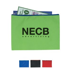 Non-Woven Document Sleeve With Zipper Eco Friendly Bag