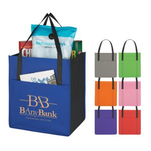 Non-Woven Shopper's Pocket Tote Eco Friendly Bag