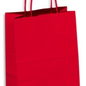Kraft Paper Bag Coloured Medium Includes Twisted Paper Handle