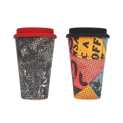Reusable Hot Cold Bamboo Coffee Cup