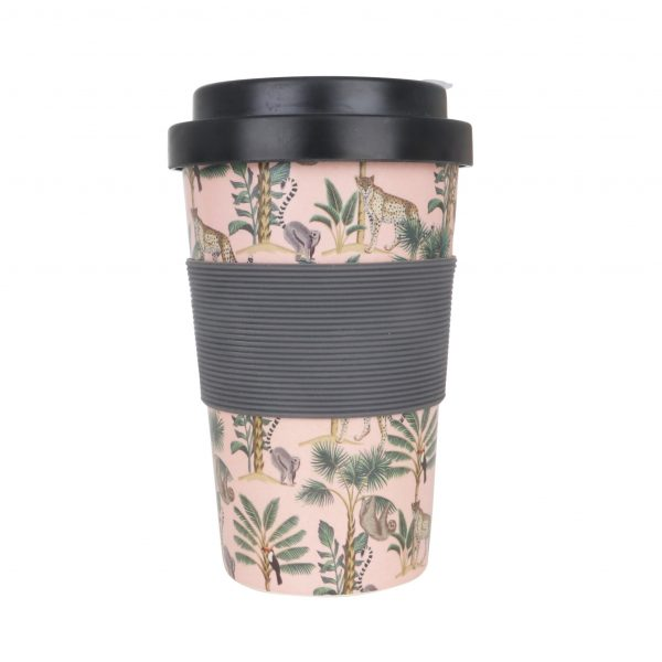 400ml Reusable Hot Cold Bamboo Coffee Cup